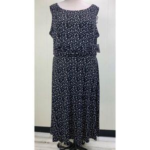 NWT Jessica Howard Black & White Polka Dot Dress